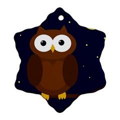 Cute owl Snowflake Ornament (2-Side)