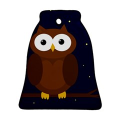 Cute owl Bell Ornament (2 Sides)