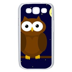 Cute owl Samsung Galaxy S III Case (White)