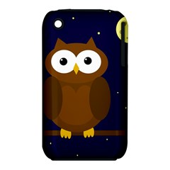 Cute owl Apple iPhone 3G/3GS Hardshell Case (PC+Silicone)
