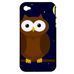 Cute owl Apple iPhone 4/4S Hardshell Case (PC+Silicone)