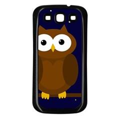 Cute owl Samsung Galaxy S3 Back Case (Black)