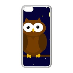 Cute owl Apple iPhone 5C Seamless Case (White)