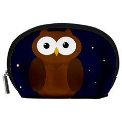Cute owl Accessory Pouches (Large)