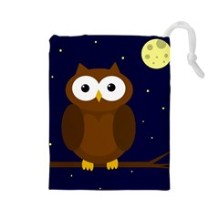 Cute owl Drawstring Pouches (Large)