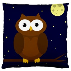 Cute owl Large Flano Cushion Case (Two Sides)