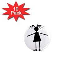 Teenage girl 1  Mini Magnet (10 pack)
