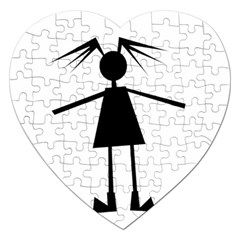 Teenage girl Jigsaw Puzzle (Heart)