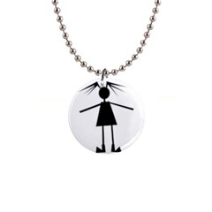 Teenage girl Button Necklaces