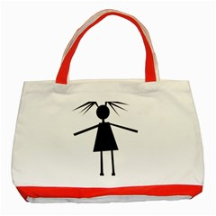 Teenage girl Classic Tote Bag (Red)