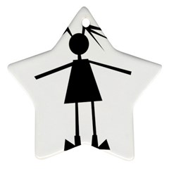 Teenage girl Star Ornament (Two Sides)
