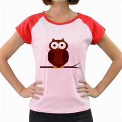 Cute transparent brown owl Women s Cap Sleeve T-Shirt
