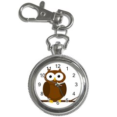 Cute transparent brown owl Key Chain Watches