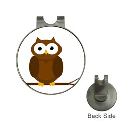 Cute transparent brown owl Hat Clips with Golf Markers