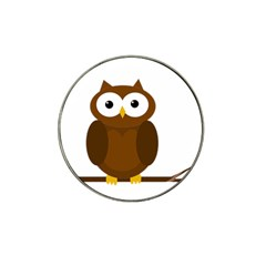 Cute transparent brown owl Hat Clip Ball Marker