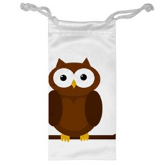 Cute transparent brown owl Jewelry Bags