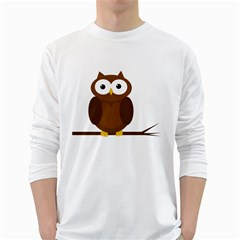Cute transparent brown owl White Long Sleeve T-Shirts