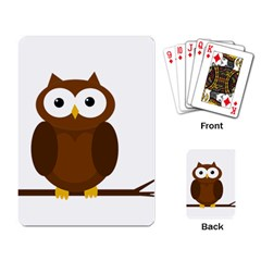 Cute transparent brown owl Playing Card
