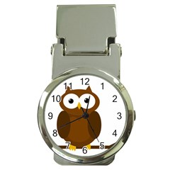 Cute transparent brown owl Money Clip Watches