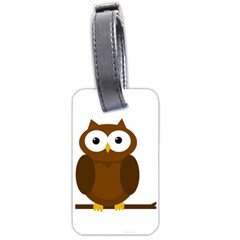 Cute transparent brown owl Luggage Tags (Two Sides)