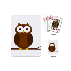 Cute transparent brown owl Playing Cards (Mini)