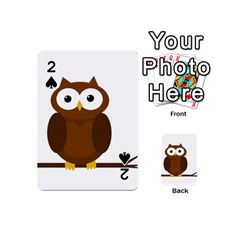 Cute Transparent Brown Owl Playing Cards 54 (mini)