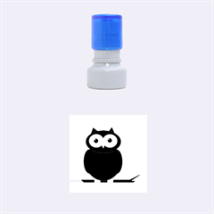 Cute transparent brown owl Rubber Round Stamps (Small)