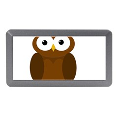 Cute transparent brown owl Memory Card Reader (Mini)