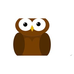 Cute transparent brown owl YOU ARE INVITED 3D Greeting Card (8x4)