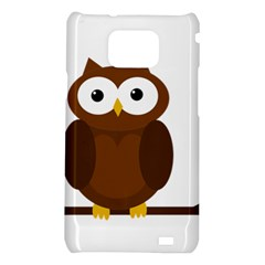 Cute transparent brown owl Samsung Galaxy S2 i9100 Hardshell Case