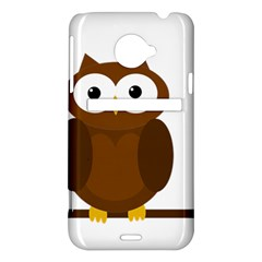 Cute transparent brown owl HTC Evo 4G LTE Hardshell Case