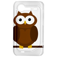 Cute transparent brown owl HTC Incredible S Hardshell Case