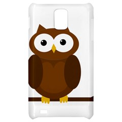 Cute transparent brown owl Samsung Infuse 4G Hardshell Case
