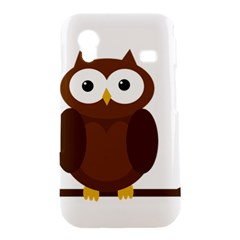 Cute transparent brown owl Samsung Galaxy Ace S5830 Hardshell Case