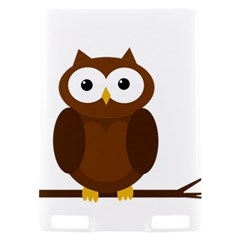 Cute transparent brown owl Kindle Touch 3G