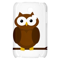 Cute transparent brown owl Samsung S3350 Hardshell Case