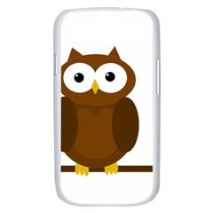 Cute transparent brown owl Samsung Galaxy S III Case (White)