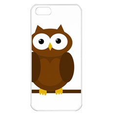 Cute transparent brown owl Apple iPhone 5 Seamless Case (White)