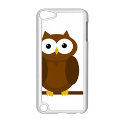 Cute transparent brown owl Apple iPod Touch 5 Case (White)