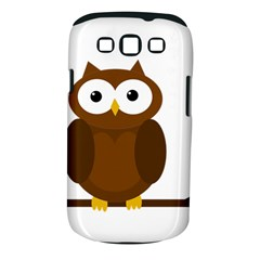 Cute transparent brown owl Samsung Galaxy S III Classic Hardshell Case (PC+Silicone)