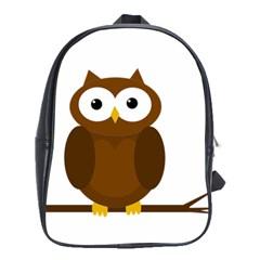 Cute transparent brown owl School Bags (XL)