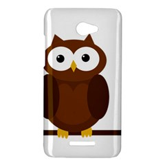 Cute transparent brown owl HTC Butterfly X920E Hardshell Case