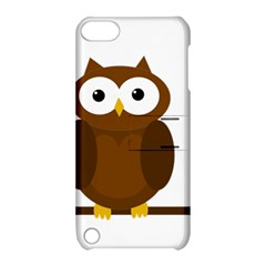Cute transparent brown owl Apple iPod Touch 5 Hardshell Case with Stand