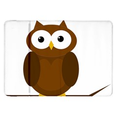 Cute transparent brown owl Samsung Galaxy Tab 8.9  P7300 Flip Case