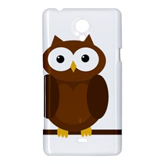 Cute transparent brown owl Sony Xperia T