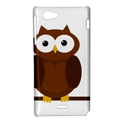 Cute transparent brown owl Sony Xperia J