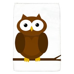 Cute transparent brown owl Flap Covers (S)