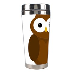 Cute transparent brown owl Stainless Steel Travel Tumblers