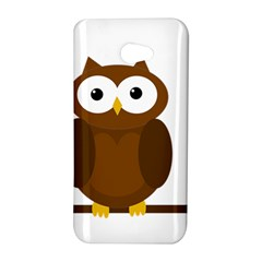 Cute transparent brown owl HTC Butterfly S/HTC 9060 Hardshell Case