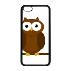 Cute transparent brown owl Apple iPhone 5C Seamless Case (Black)